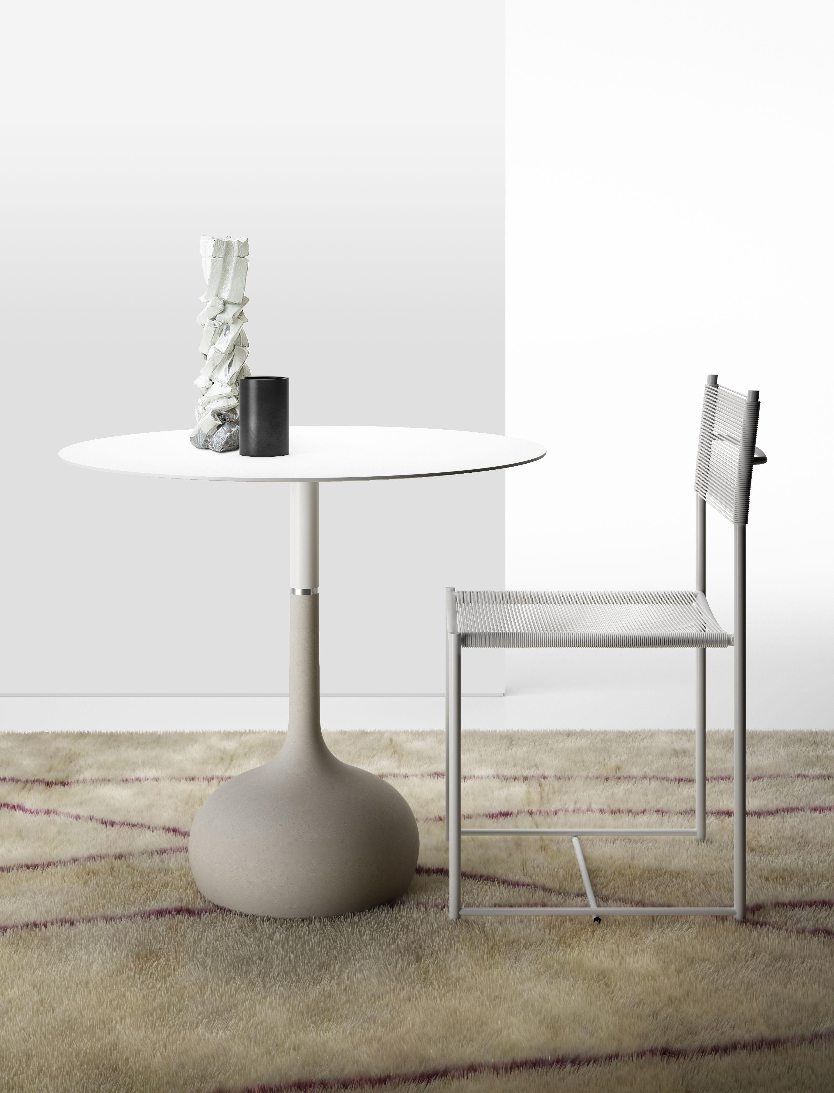 table saen xs base b ton 70 cm blanc granit pied. Black Bedroom Furniture Sets. Home Design Ideas