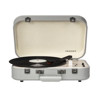 Platine vinyle Coupe portable Bluetooth Crosley blanc,gris en matière plastique