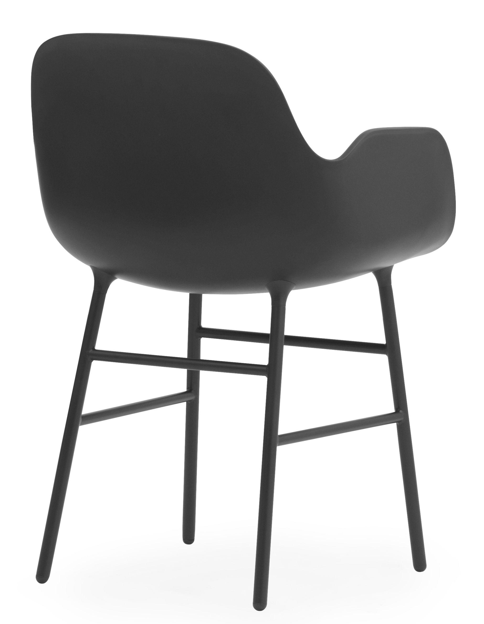 fauteuil form pied m tal noir normann copenhagen. Black Bedroom Furniture Sets. Home Design Ideas