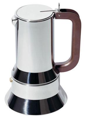 Cafetière italienne 9090 / 1 à 3 tasses - Alessi marron,chromé en métal