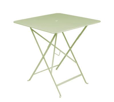 Table pliante Bistro 71 x 71 cm Trou pour parasol Fermob tilleul en métal