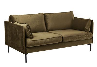 PPno.2 Sofa 2 Sitze / Velours - L 173 cm - Pols Potten - Marron-kaki