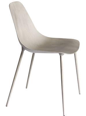 Mobilier - Chaises, fauteuils de salle à manger - Chaise Mammamia / Coque béton - Opinion Ciatti - Béton gris - Béton, Métal