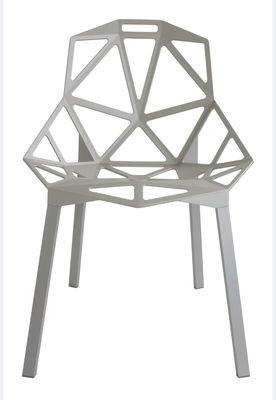 Chaise empilable Chair One Métal Magis gris en métal