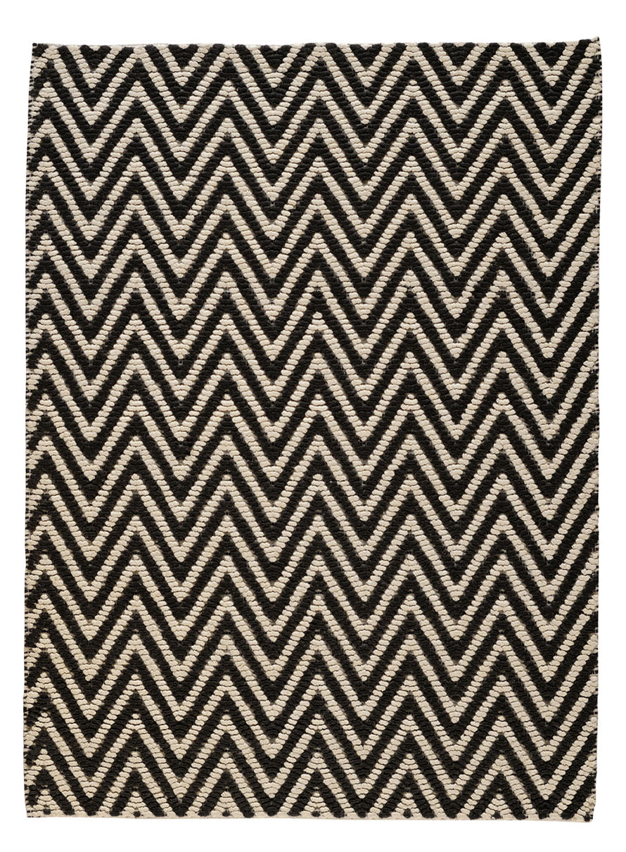 tapis herringbone 140 x 200 140 x 200 cm noir blanc toulemonde bochart. Black Bedroom Furniture Sets. Home Design Ideas