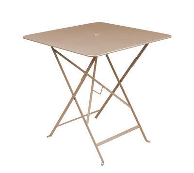 Table pliante Bistro 71 x 71 cm Trou pour parasol Fermob muscade en métal