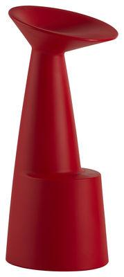 Mobilier - Tabourets de bar - Tabouret de bar Voilà / H 80 cm - Plastique - Slide - Rouge - Polyéthylène