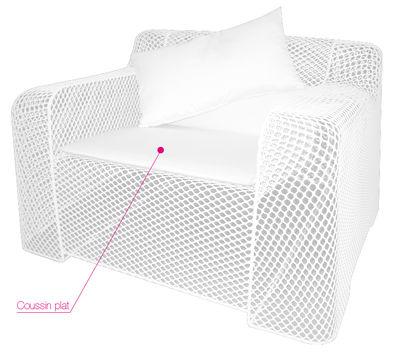 Cuscino per seduta - Per poltrona Ivy di Emu - Bianco - Tessuto