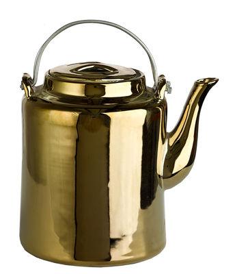 Théière Gold 1,5 L Porcelaine Pols Potten or en céramique
