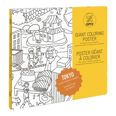 Déco - Pour les enfants - Poster à colorier Tokyo / 100 x 70 cm - OMY Design & Play - Tokyo - Papier recyclé