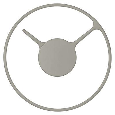 Interni - Orologi  - Orologio a parete Stelton Time Medium / Ø 22 cm - Stelton - Grigio - Alluminio
