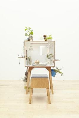 Bureau koloro l 73 cm blanc bois clair ichiro for Mobilier bureau 974