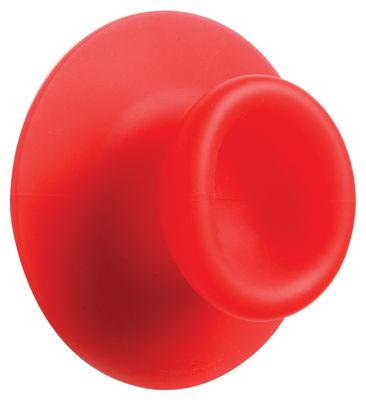 Image of Appendiabiti Sucker - a ventosa di droog - Rosso - Materiale plastico