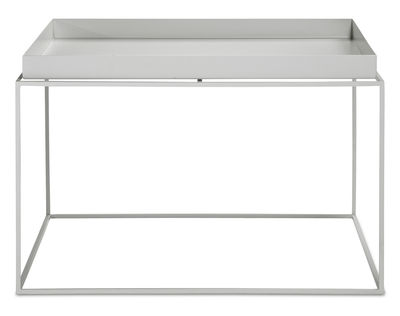 Tavolino basso Tray H 35 cm / 60 x 60 cm - Quadrato - Hay - Grigio chiaro - Metallo
