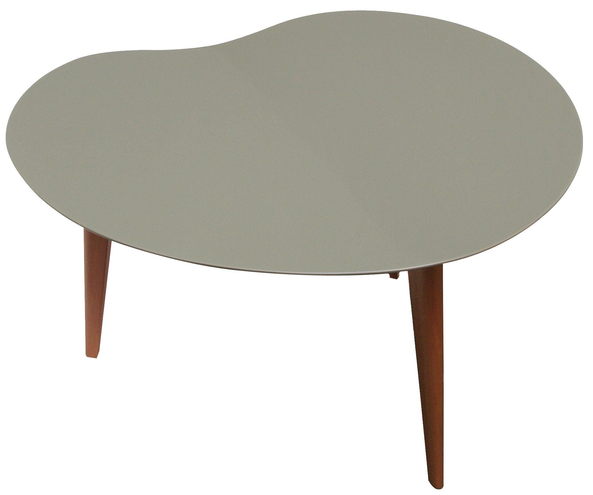 table basse lalinde haricot large gris pieds ch ne. Black Bedroom Furniture Sets. Home Design Ideas