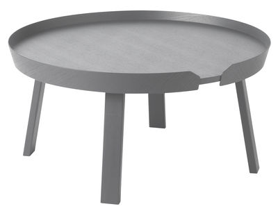 Table basse Around Large / Ø 72 x H 37,5 cm - Muuto anthracite en bois