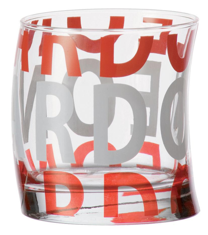 Scopri bicchiere da acqua joy rosso di leonardo made in for Acqua design italia