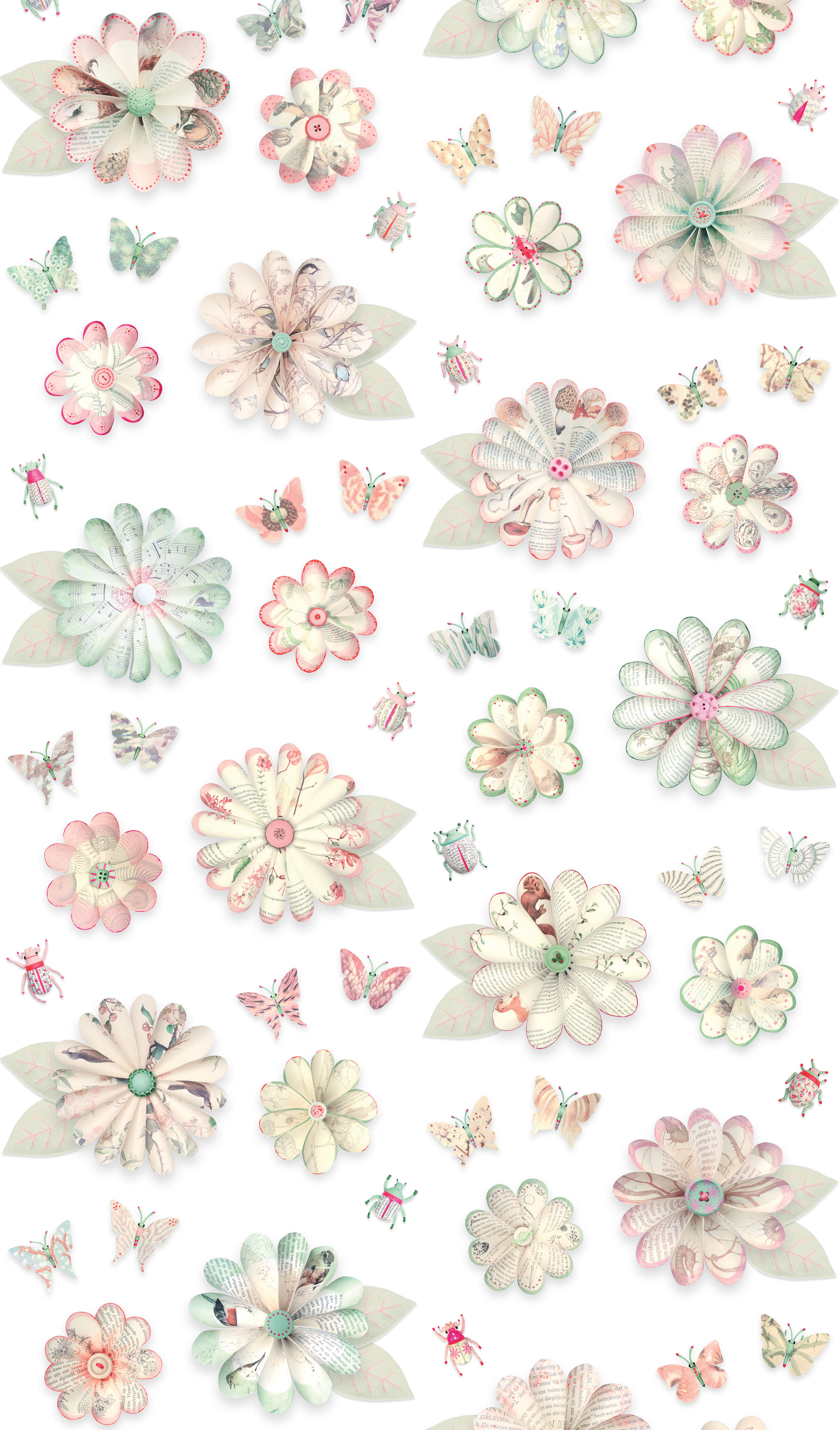 flowers wallpaper 1 roll pastel by studio ditte made