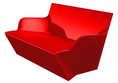 Image of Sofà Kami Yon - versione laccata di Slide - Laccato rosso - Materiale plastico