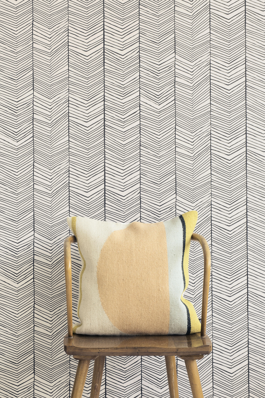 herringbone 1 bahn b 53 cm ferm living tapete. Black Bedroom Furniture Sets. Home Design Ideas