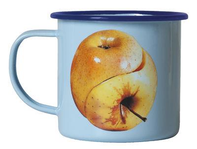 Mug Toiletpaper / Pomme - Seletti bleu en métal