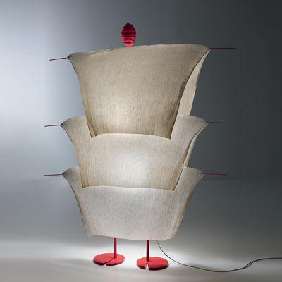 Luminaire - Lampadaires - Lampadaire The MaMo Nouchies LED / Walking In The Rain - Ingo Maurer - Beige - Métal laqué, Papier japonais
