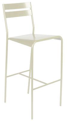 Chaise de bar Facto Métal H 75 cm Fermob blanc en métal