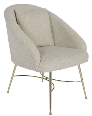 Margot Gepolsterter Sessel / Stoff & Messing - Maison Sarah Lavoine - Beige,Messing