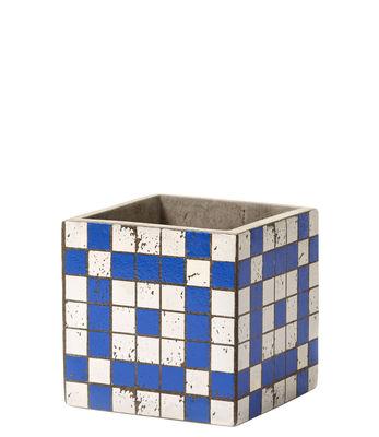 Pot Marie Mosaïque / 13 x 13 cm - Béton émaillé - Serax blanc,bleu en céramique
