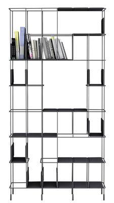 Libreria Network - / Con 5 ripiani rimovibili - L 98 x H 192 cm di Casamania - Antracite,Metallo - Metallo