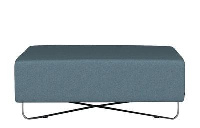 Mobilier - Poufs - Pouf Orlando / 100 x 100 cm - Bolia - Bleu - Acier, Mousse haute densité, Tissu laine