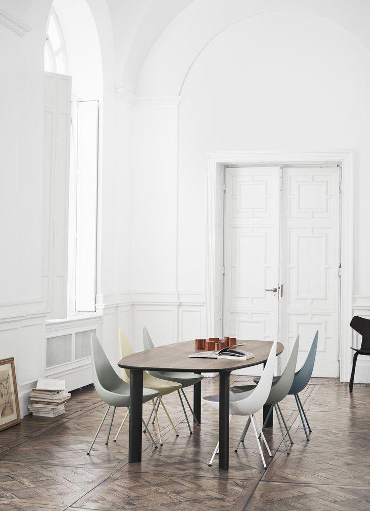 chaise drop coque plastique r dition 1958 noir. Black Bedroom Furniture Sets. Home Design Ideas