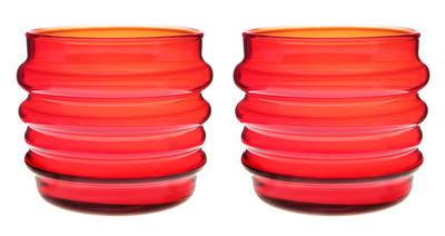 Foto Bicchiere/bicchierino Sukat Makkaralla - /set da 2 di Marimekko - Rosso - Vetro