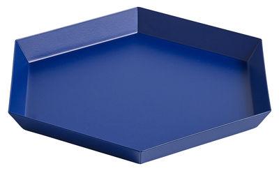 Plateau Kaleido Small / 22 x 19 cm - Hay bleu royal en métal