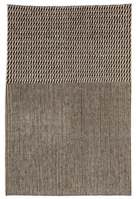 Tapis Blur Laine afghane 170 x 240 cm Nanimarquina noir,beige en rotin fibres