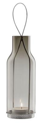 Lanterne H 25 cm / Photophore - Eva Solo gris fumé en verre