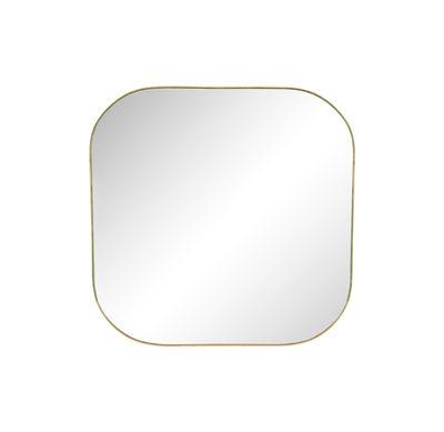 Image of Specchio murale Gold Square - / 30 x 30 cm di & klevering - Ottone - Metallo