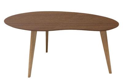 Tavolino Lalinde Haricot - / Large - L 83 cm di Sentou Edition - Noce - Legno