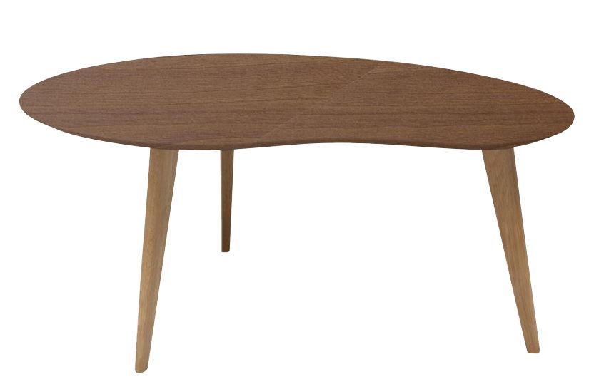 table basse lalinde haricot large l 83 cm noyer pieds noyer sentou edition. Black Bedroom Furniture Sets. Home Design Ideas