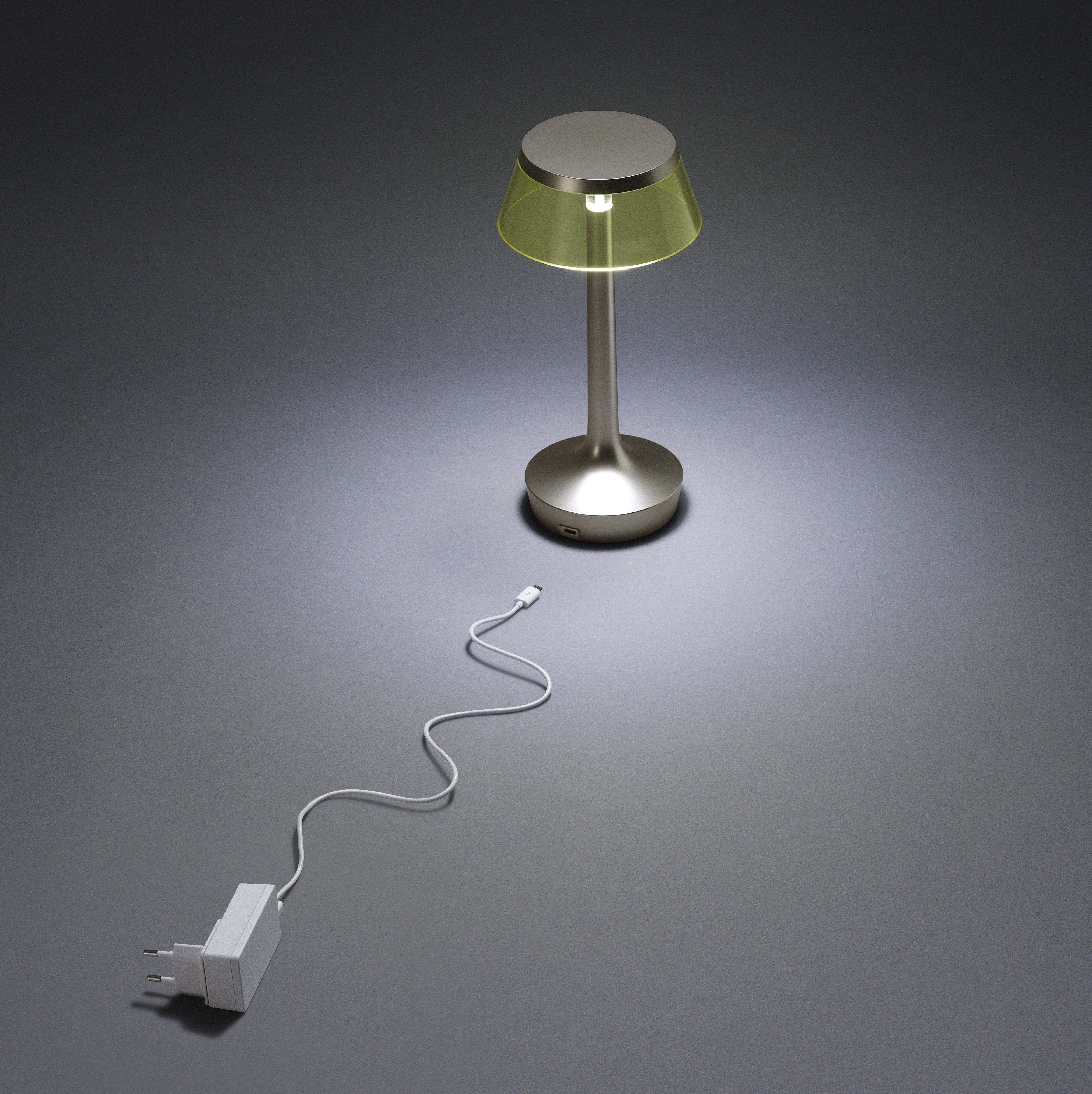 bon jour unplugged led mit micro usb ladekabel flos. Black Bedroom Furniture Sets. Home Design Ideas