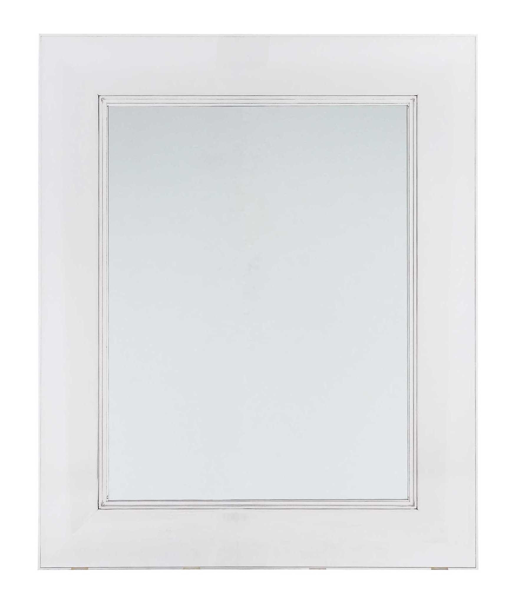 Miroir mural francois ghost large 88 x 111 cm cristal for Miroir large