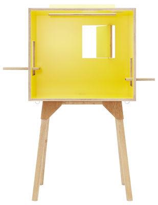 bureau koloro l 73 cm jaune bois clair ichiro. Black Bedroom Furniture Sets. Home Design Ideas