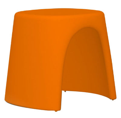 Mobilier - Tabourets bas - Tabouret empilable Amélie / Plastique - Slide - Orange - Polyéthylène