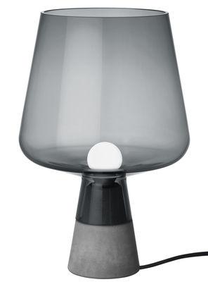 Foto Lampada da tavolo Leimu / Ø 25 x H 38 cm - Iittala - Grigio fumo - Vetro