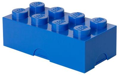 Déco - Pour les enfants - Boîte Lego® Brick / 8 plots - Empilable - ROOM COPENHAGEN - Bleu - Polypropylène