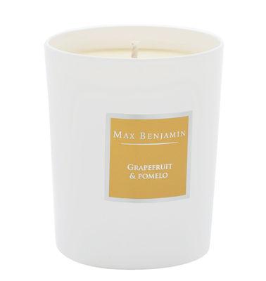 Bougie parfumée Pamplemousse & pomelo - 190gr - Max Benjamin blanc,jaune en verre