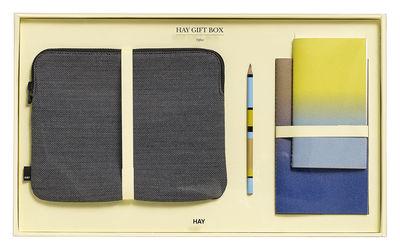 Coffret Bureau Large 1 housse pour tablette, 2 carnets, 1 crayon Hay multicolore,gris foncé en tissu