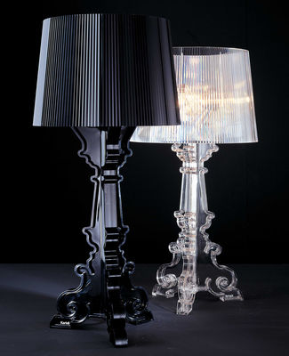 lampe de table bourgie h 68 78 cm cristal kartell. Black Bedroom Furniture Sets. Home Design Ideas