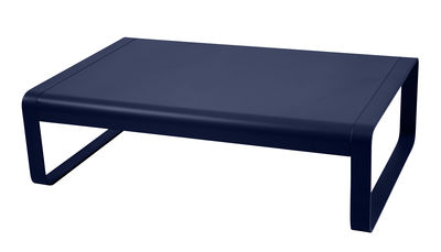 Table basse Bellevie Aluminium 103 x 75 cm Fermob bleu abysse en métal