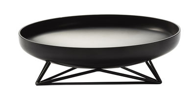 Centre de table Steel Vessels Medium / Vide-poche - Ø 42 cm - Th Manufacture noir satiné en métal